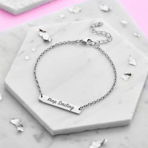 Personalised Silver Bar Bracelet - Inscripture - Personalised Jewellery