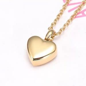 Gold Handwriting Ashes Necklace - Inscripture - Ashes Jewellery