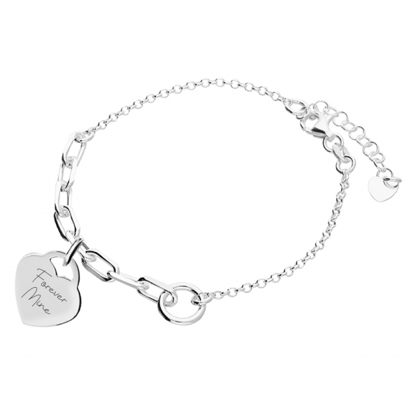 Inscripture - Handwriting Silver Demi Chain Bracelet