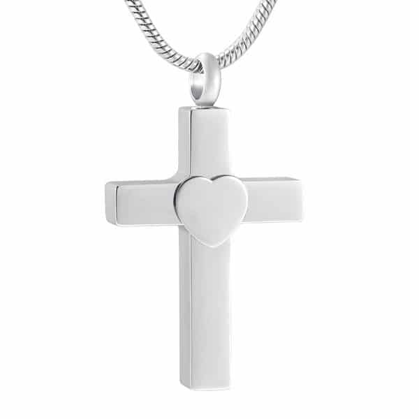 Inscripture - Silver Cross Urn Ashes Necklace