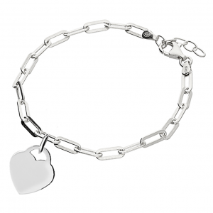 Silver Handwriting Oval Clasp Bracelet - Inscripture - Handwriting Jewellery