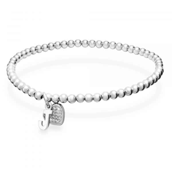 Inscripture - Sterling Silver Initial Heart Bracelet
