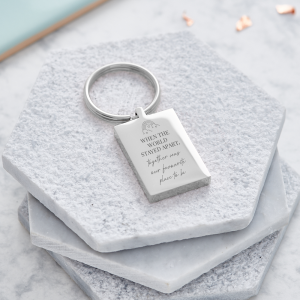 Lockdown personalised keyring - quarantine gift - inscripture