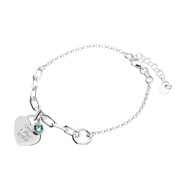 Chain Bracelet with bluecharm