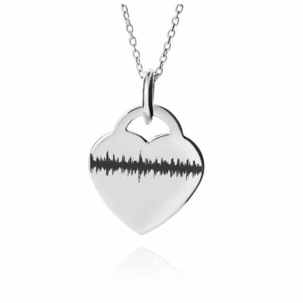 Inscripture - Heart Sound wave Heat Beat Necklace
