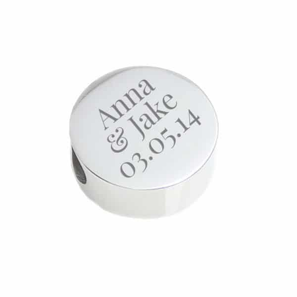 circle bead personalised silver
