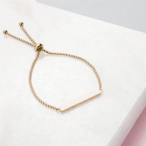 Handwriting Gold Slider Bracelet