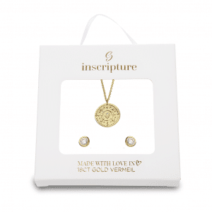 Gold Hamsa Necklace & Earring Set