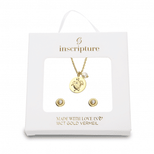 Gold Turtle Necklace & Earring Gift Set