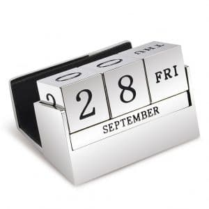 Handwriting Engraved Desktop Calendar - Inscripture