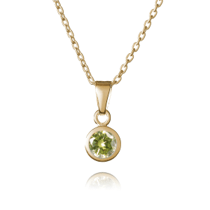 Gold August Birthstone Necklace - Inscripture