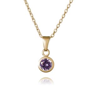 Gold June Birthstone Necklace - Inscripture
