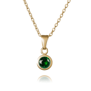Gold May Birthstone Necklace - Inscripture