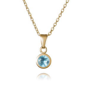 Gold March Birthstone Necklace - Inscripture