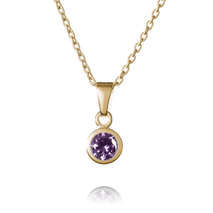 Gold February Birthstone Necklace - Inscripture