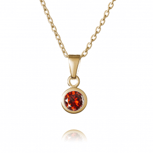 Gold January Birthstone Necklace - Inscripture