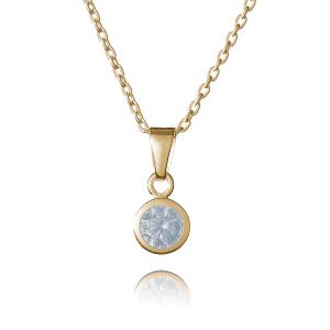 Gold April Birthstone Necklace - Inscripture