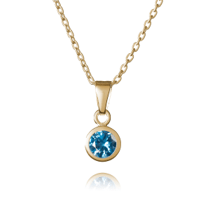 Gold December Birthstone Necklace - Inscripture