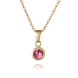 Gold October Birthstone Necklace