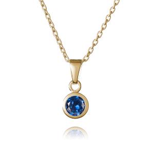 Gold September Birthstone Necklace - Inscripture