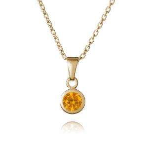 Gold November Birthstone Necklace