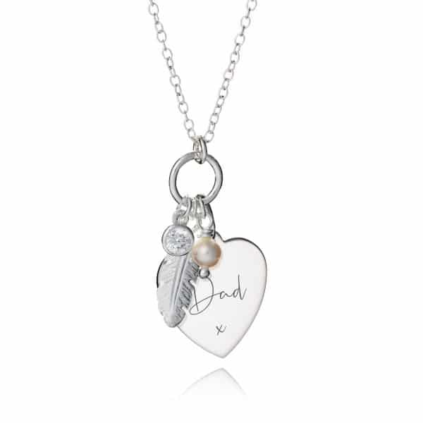 Feather & Pearl Memorial Necklace