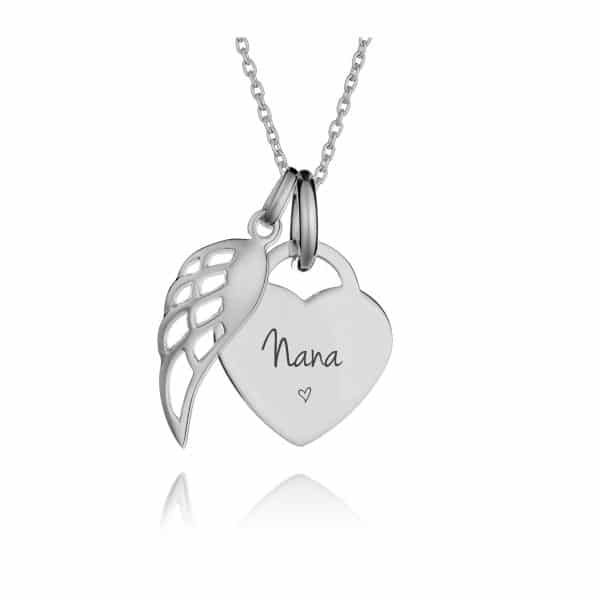 Small Angel Wing Memorial Necklace